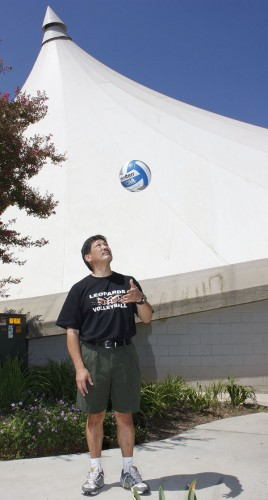 Marlon Sano the new women's volleyball head coach, has coached collegiate volleyball for more than 30 years at six different institutions. His most recent positions were with the University of Nevada Las Vegas and Cal Poly of San Luis Obispo. / photo by Stephanie Arellanes