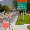 Road work can be seen along San Dimas Avenue, south of the 210 Freeway at the cross section of Allen Avenue in San Dimas. The City of San Dimas is among several local recipients of grants from the American Recovery and Reinvestment Act. Other recipients include the Bonita Unified School District and the University of La Verne. / photo by Christopher Guzman