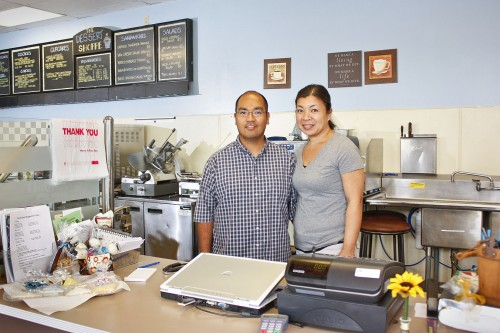 Sydney and Xenia Train, owners of The Dessert Shoppe in San Dimas, opened the doors to their bakery in August. After many years of baking wedding cakes and other desserts for close friends and family, the Trains decided to open up their own commercial bakery. The Dessert Shoppe offers a wide variety of products for any occasion and all items are baked in the store. / photo by Stephanie Arellanes