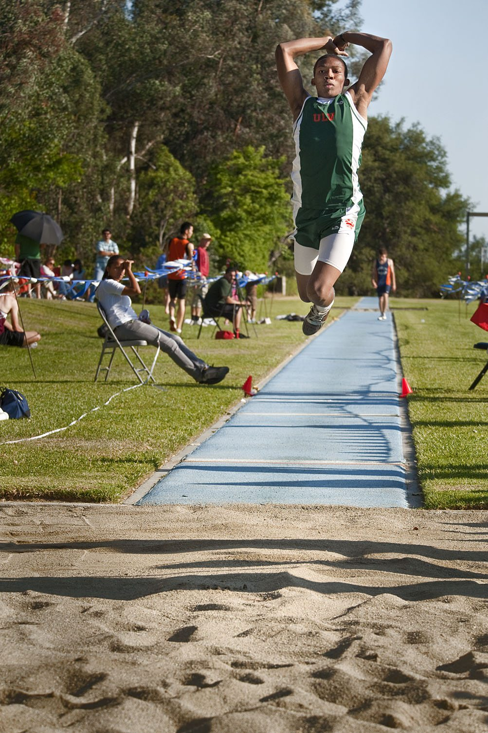 Freshman Paul Turner, who hails from Indio, placed first in the men's long jump and triple jump at the SCIAC Championship meet on April 30 and May 1 at Pomona College in Claremont. The men's team took third place overall. Its next event is Saturday at the Occidental Invitational./photo by Nicholas Mitzenmacher