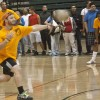 Kevin Dowell of the A-Top Animals was among 12 team members to compete with 11 other teams participating in Tuesday night's intramural dodgeball tournament.