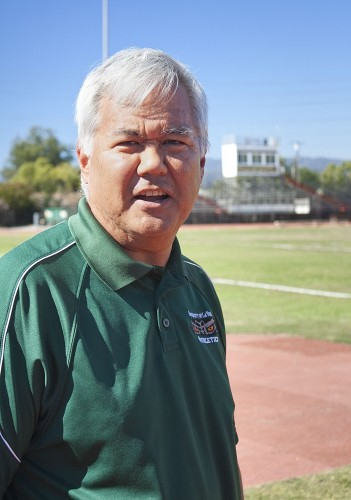 Paul Alvarez is the chairman of the Movement and Sports Science Department and has been teaching at La Verne since 1987. He explains that athletic training provides a variety of options for careers and internships. Besides teaching athletic training, Alvarez also enjoys sports and landscape photography, as well as spending time with his wife and two sons. He will be attending his second World University Games in the summer of 2011. / photo by Jakeh Landrum
