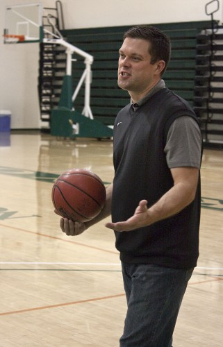 Matthew Rogers, St. Louis Intercollegiate Athletic Conference Coach of the Year for 2003-04, is the new head coach of the women's basketball team at La Verne. He was formerly the men's basketball coach at Maryville University in St. Louis, where he captured two conference titles and two NCAA postseason berths. / photo by Jakeh Landrum