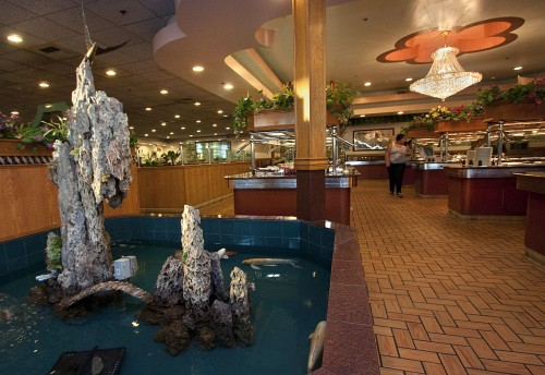 Restaurant review buffet offers a variety of asian for Koi ponds near me
