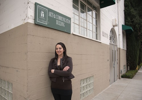 Junior journalism major Angie Marcos serves as the editor in chief of La Verne Magazine. Marcos previously served as a staff writer for two semesters on La Verne Magazine and participated in the Campus Times for two semesters. / photo by David Bess