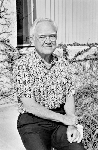 Dr. William Donald Clague, shown here in 1997, died March 20 at the age of 90 of natural causes. Celebrated professor and administrator at the University of La Verne, Dr. Clague was the founder of La Verne College of Law and helped create the School of Continuing Education. / file photo by Shelby Wertz