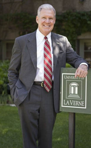 University of La Verne President Steve Morgan is retiring after serving the school since 1985. During Morgan's 26-year tenure, the university's assets grew from $27 million to more than $100 million and the public administration, legal studies, athletic training and doctor of psychology programs earned national accreditation. Morgan is also a La Verne alumnus, class of 1968, having earned his bachelor's degree in social sciences at La Verne College. / photo by Allison Lavelle