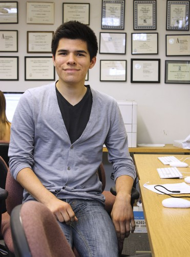 New leaders have been selected to serve the communications department's media outlets for the fall semester. Branden delRio, who will be a junior journalism major, will be editor in chief of the Campus Times. / photo by Victoria Castaneda