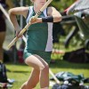Freshman pole-vaulter Taylor Bernhard competes at the Occidental Invitational track meet Saturday. She successfully cleared a height of 10-10.75 feet, placing her 14th out of 23 athletes. The invitational was a non-scoring meet. / photo by Zachary Horton