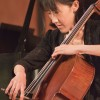 "Joy Song Thompson played the cello at ""No Ordinary Women,"" a Mother's Day Celebration Concert in Morgan Auditorium Sunday. Thompson began playing at 12-years-old and studied at the Juilliard School. She was accompanied by artist-in-residence, Grace Xia Zhao on piano and violinist Alex Russell. The concert also featured soprano Courtney Huffman. / photo by Cassandra Egan"