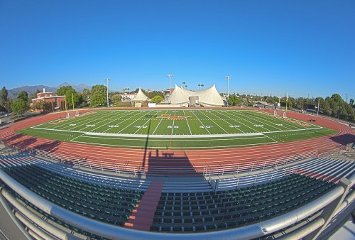 Remodeled with artificial turf, La Verne's new football stadium has been open for football and soccer practice since mid-summer. With the opening of the new Ortmayer Stadium, the university will have one of the premiere stadiums in the Southern California Intercollegiate Athletic Conference. The grand re-opening of the stadium will be at 5 p.m. Sept. 15 / photo by hunter cole