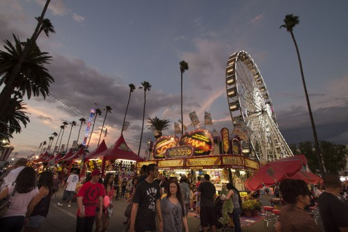 The 90th annual Los Angeles County Fair opened on Labor Day weekend and will run every Wednesday through Sunday until the end of September. The Fair's carnival zone is lined with hundreds of food and game vendors. The Los Angles County Fair, at the Fairplex – less that a mile from the University of La Verne campus – is the nation's largest county fair, with an estimated attendance of more than 1.4 million people per year. / photo by Pablo Cabrera