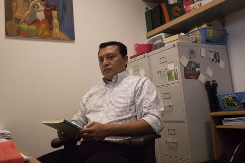 Originally from El Salvador, ULV asistant professor of education Adonay Montes worked closely with immigrant students through the Migrant Education Summer Institute on campus this summer. The month-long program helps motivate and educate these children of migrant farm workers. The program, began as a partnership with the Imperial County Office of Education./photo by pablo cabrera