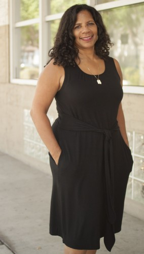 Associate Professor of Broadcast Journalism Valerie Cummings is starting her first year at the University of La Verne, after being an assistant professor at the University of Southern California and Howard University in Washington DC. Cummings received her bachelor's degree from the University of Southern California and a Masters and Juris Doctorate degree from Columbia University. Cummings uses her law background in her Introduction to Mass Media and Law and the Mass Media class. / photo by Pablo Cabrera