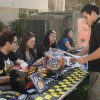 "To get students in the Halloween Spirit the Campus Activates Board hosted an event Tuesday at the Quad, where students can build their own haunted house out of Graham crackers and frosting. Students also sent ""boo grams"" to anyone living on campus. Pablo Garnica, junior psychology major sent a boo gram. Anthony Juarez, Caiti Helsper, Carina Gonzalez, and Cindy Vallejo are the cabbies that helped with the event./ photo by Kelley Maggiulli"