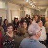 "The Irene Carlson Gallery of Photography hosted a well-attended reception for the photographers and writers in the most recent expedition ""Dissent"", on Thursday November 2. Alumni Photographers were asked to make pictures on the concept of ""dissent"", and creative writing students, directed by Professor Sean Bernard, were asked to caption those pictures, without talking to the photographer, based on what they saw in the picture and the concept of ""dissent"".  Gallery guests included Isela Peña-Rager and Raffi Zinzalian two of the alumni photographers whose work was being shown, adjunct instructor Anne Battle, Alisha Rosas the Interim Director of Public Relations, Dr. Al Clark, Associate Vice President for Academic Affairs, and Professor Jeffrey Kahan, faculty advisors to Alpha Chi National Honor Society. Alpha Chi co-sponsored the reception with the Photography Department and the Writing Program. / photo by Kelley Maggiulli"