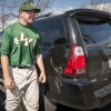 Junior baseball player Tim Ralston parks in parking lot Q daily because it is so close to the team's batting cages. The lot is the newest addition to parking on campus, across the street from the Shell gasoline station on Arrow Highway and D Street. The lot can accommodate up to 10 cars. / photo by Hunter Cole