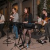 "Brandon Bae, Eric Radloff, Mia Minichiello, Logan Shrewsbury, Nick Campbell, students from USC, and members of indie-rock band Bear Attack, perform at Pomona College Museum of Art on Thursday, February 28 for the museum's event, ""Art After Hours,"" which takes place every Thursday evening from 5 p.m. to 11 p.m. The event has an art gallery and on certain nights, live music or lectures are presented. / photo by Nicole Ambrose"