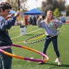 Local residents Daanyaal Kumar and Hayley Blockinger enjoy hula hoops during the La Verne Health and Fitness Expo, held at Bonita High School March 16. The event offered health screenings, fitness workshops, vaccines and other services from 48 vendors. / photo by Chelsea Knight