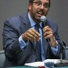 "Ahmed Younis was one of six guest speakers in ""Building Cooperation Through Empathy"", an hour-long panel discussion between members of various faiths, last Thursday. Different faiths offered different points of view and responses to questions. Younis represented his Muslim faith and is one of the 500 Most Influential Muslims according to the Arabian Business Magazine. The Interfaith Student Council sponsored the event, with Co-President, Tahil Sharma, as host. / photo by Christopher Mora"