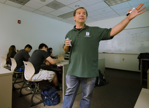 The University of La Verne Society of Accountants will host the annual Academic Awards Banquet in the Campus Center Ballroom May 3 at 6:30 p.m. Professor of accounting Claudio Munoz encourages all students to join the banquet, where business and accounting students will be recognized for their academic work. RSVP by contacting Professor Munoz at cmunoz@laverne.edu. / photo by Mitchell Aleman