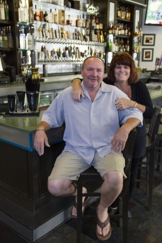 Lordsburg Tap House and Grill opened for business June 4 on D Street in downtown La Verne at the same spot formerly occupied by T. Phillips. The owners are Mike and Britt McAdams, who were customers of T. Phillips for 14 years. The McAdams hope to revamp the business. / photo by Ryan Gann