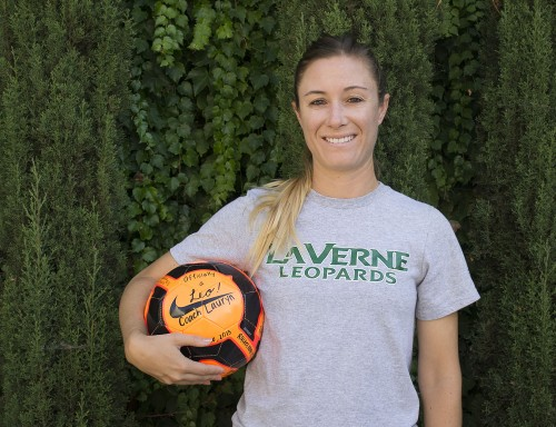 New womens' soccer coach Lauryn Pehanich has played soccer for 25 years. As a seasoned coach of 10 years she loves how each game is unique and always different from the last. / photo by Sarah Golden