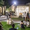 Students from the Claremont Colleges gather at the opening of Art After Hours at the Pomona College Museum of Art, Thursday, September 5. At 9:00 p.m. students stopped and listened to a band and picked up ice cream before heading to the five galleries. The exhibition includes Buddhist inspired photographs and slow motion videos of dancers, recording the fluidity and minute details of human movement. Pomona College plans to host the event every Thursday through October 5 from 5:00 – 11:00 p.m. / photo by Sarah Golden
