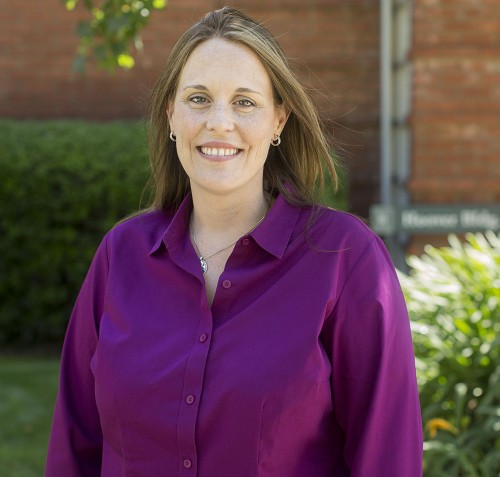 Kathleen Weaver, associate professor of biology, is the new assistant dean in the College of Arts and Sciences. Weaver, who joined the dean's office Sept. 1, said she is excited about her new responsibilities, including overseeing the La Verne Experience, general education and support for community engagement. She joined the faculty in 2006. / photo by Nicole Ambrose