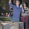 "La Verne student Jason Nicholls wins the fifth match of the Monster Pong tournament Tuesday in the first stage. Nicholls eliminated his opponent's monster ""cups"" first by shooting the ball into them. The Campus Activities Board hosted the tournament on the South Quad. Photo by: Helen Arase"