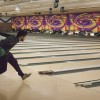 """Senior Jared Taylor """"strikes out"""" cystic fibrosis for Iota Delta's Bowl for Breath on Saturday. The sorority chose bowling because it is not a strenuous sport so people with cystic fibrosis can participate. / photo by Stephanie Ball"""