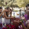 Celebrating life and new beginnings, La Verne counselors Sarah Leclerc and Nicole Kezos helped guests pot their flowers at One Billion Rising, an event to raise awareness and promote justice for violence against women. Kaitlin Wilson, a sophomore athletic training major, Alicia Rodriguez, a freshman music major and Jacqueline Gaeta, an I-Poly High School Student and Denim Day volunteer wrote positive words and sayings on their flower pots. / photo by Katie Madden