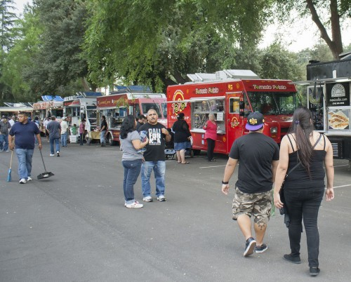 Food trucks flood the Pomona Fairplex every Thursday through the first week of August. The Food Truck festival is a weekly event for people who enjoy the L.A. fad of mobile food. The vendor line up changes every week as many different trucks pull up to sell to hungry crowds. Their unique dishes range from garlic fries to lobster tacos leaving options open for all festival attendees. Trucks such as My Tornado Potato, Gourmet Genie, Slammin Sliders and Macho Nacho can be found at the Fairplex, among other trucks. The event is held from 5:30 p.m. to 8:30 p.m. and there is no admission fee. / photo by Veronica Orozco