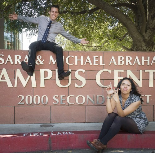 David Asbra, sophomore political science major, and Selyna Ybarra, freshman business administration major, were elected by the student body as president and vice president of ASULV for the 2014-2015 school year. Their plan while in office is to use their previous leadership skills to bridge the gap between administration and the students and allow the students voices to be heard. / photo by Jessica Harsen