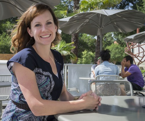New to the University of La Verne, Heather Podsakoff was chosen as the general manager for Bon Appétit. She earned a bachelor's degree at Biola University before first returning there as director of catering for Bon Appétit. Podsakoff said she loves the friendly atmosphere on campus and she has taken to exploring the various buildings. Her current favorite is Founders Hall. / photo by Amanda Nieto
