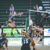 Junior outside hitter Brittany Yaxley's spike resulted in a kill against Whitworth from Spokane, Washington,  last Friday at the Pacific Coast Classic tournament at Frantz Athletic Court. La Verne won the match, 3-1. The Leopards also defeated Wheaton from Illinois, 3-0, earlier in the day. On the second day of the tournament, La Verne defeated St. Scholastica from Minnesota, 3-1 and UC Santa Cruz, 3-1. La Verne's next game is at 2 p.m. Saturday against Westmont College in Santa Barbara.