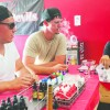 "West Covina residents Marty Vigil, Gary Bruner and Ray Marquez, sit at the""juice bar"" at the West Covina e-cigarette and vaporizer store, Vapor Devils, located at 500 N. Azusa Ave. #111, West Covina. Vigil, Bruner, and Marquez sample from a variety of e-liquids, or""juices,"" and recommend their favorites to each other. All three are regular customers of Vapor Devils, which opened a year and a half ago just as electronic cigarettes and vapor pens, portable vaporizers, were becoming popular. Photo by/ Daniel Torres"