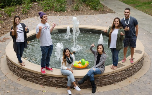 The mission of Kanaka Hui Ohana is to promote Hawaiian culture on the University of La Verne campus. The executive board includes junior secretary Lexi Takanishi, senior treasurer Eldric Rabago, junior vice president Jolene Nacapuy, sophomore historian Hayley Kurisu, junior president Jairian Ka'ahanui and junior social chairman Zack Gonzalez. All students are welcome to join the club, but for members who hail from Hawaii, the club is a reminder of home. / photo by Emily Bieker