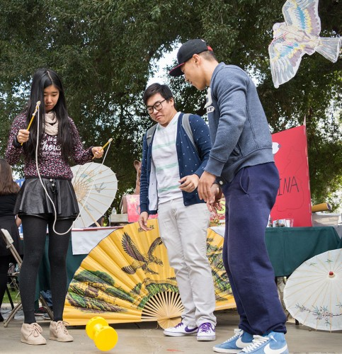 More than 300 students enjoyed food from all over the world, played games and learned about different cultures at the 24th annual International Education Festival from 11 a.m. to 1 p.m. Nov. 18 in Sneaky Park. / photo by Megan Peralez