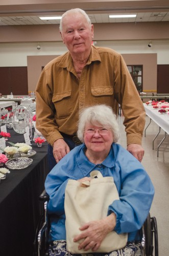 Don and Marilee Gray attend the 68th annual Camellia Show on Saturday at the La Verne Community Center as competitors. The Grays are very involved with the Pomona Valley Camellia Society. Unfortunately, the Grays did not win this year. / photo by Alexandra Arkley