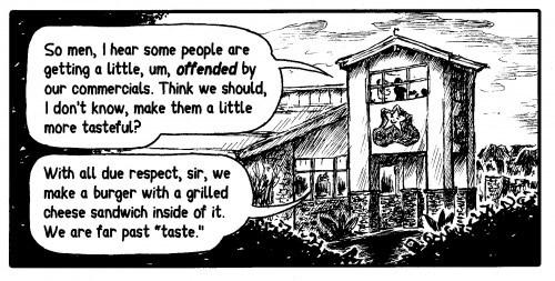Editorial cartoon by Jacob Bogdanoff and Des Delgadillo