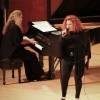 Award-winning vocalist Kathy Kosins, accompanied by pianist Gayle Serdan and the University of La Verne faculty jazz quartet performed well-known jazz and R&B songs, along with Kosins' original compositions during Sundays at the Morgan. Kosins and the band explored a variety of genres from the up-tempo bossa nova to the mellow songs of Curtis Mayfield. / photo by Gabriel De Alba