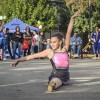 Gisele Daniels, 10, is the first of 10 dancers from the Shooting Stars dance team to perform at the Prancer and Dancers Parade of Stars Saturday in San Dimas. The city's Holiday Extravaganza was sponsored by Lori Alzarez and Team, featuring arts and crafts booths, sledding, and sleigh rides and took place between Bonita Avenue and First Street in downtown San Dimas./ photo by Nanor Zinzalian