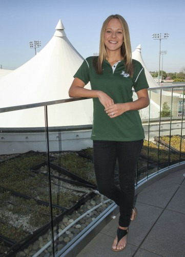 Laura Gajdosik, the new intramural sports coordinator at the University of La Verne, is responsible for planning, managing and setting up game day events. She plans to have volleyball and basketball tournaments, as well as a couple rounds of bubble soccer./ photo by Ashlyn Hulin