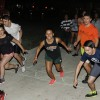 Denise Mejia, junior psychology major; Garrett Mentz, senior kinesiology major; Tracey Diaz, junior anthropology major; Alex Patterson, junior kinesiology major; Ivan Fernandez, sophomore kinesiology major; and Johnson Bai, sophomore philosophy majorrush to start the Undie Run Sept. 29 at Johnson Family Plaza. The Residence Hall Association hosts the annual Undie Run for students to race around campus. Runners are rewarded with donuts, drinks and music after the race. / photo by Donna Martinez