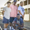 Senior basketball players Tony Warwick and Khaneal Mason and friends Corey Redeaux and DJ Greene, members of rap group The Quad Gang, say they want to bring a positive message to their listeners. Warwick and Greene, who began making music in high school, were later joined by Redeaux and Mason. The Quad Gang members have been working together for three years and they hope to develop a music career as a group. / photo by Sarah Vander Zon