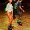 "Melissa Cerrillos, freshman business administration major, shows off her roller skating skills at Skate Express in Chino Oct. 13. The Campus Activities Board's ""Mad Skate Party,"" was one of the numerous special events scheduled to celebrate Homecoming week. / photo by Annette Paulson"