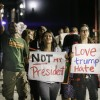 Senior kinesiology major Jarrett Mason and junior biology majors Alexa Canchola and Jacqueline McGuigan protest the election of Donald Trump Nov. 10. After the results of the election two days prior, Mason and sophomore business administration major Andrew Im hosted the march across campus for all La Verne students.