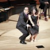 "Los Angeles Opera singers LeRoy Villanueva, a baritone, and Katherine Giaquinto, a soprano, perform the Papageno/Papagena duet from ""The Magic Flute,"" accompanied by Tali Tadmor on piano, in Morgan Auditorium Sunday. The concert was part of the Sundays at the Morgan series. / photo by Berenice Gonzalez"