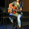 Senior radio broadcasting major Reanna Hilario performs a medley of songs by The Neighbourhood, Adele and Elvis Presley at Phi Sigma Sigma's talent show Tuesday in Dailey Theatre. The sisters of Phi Sigma Sigma raised $225 for the Nereyda Iniquez Memorial Scholarship in memory of one of their sisters who died of leukemia in 2005. The event was co-hosted by the Cabaret Series as its last event of the fall semester. / photo by Annette Paulson